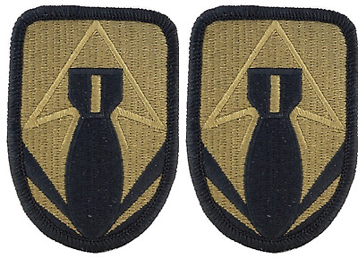 2 Pack US Army 111th Ordnance Group OCP Scorpion Hook Back Military Patches