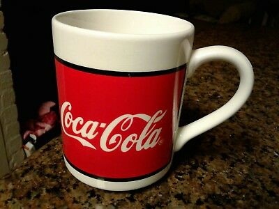 1996 Coca Cola Ceramic Coffee Cup Mug by Gibson Red & White soda coke logo pop