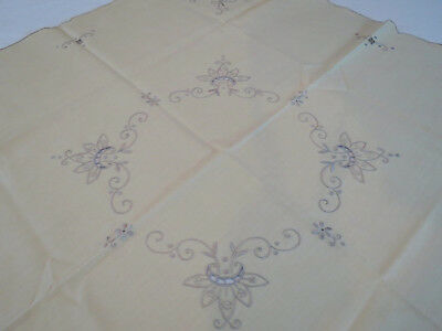 Vintage Tablecloth With Four Napkins - Small, Square