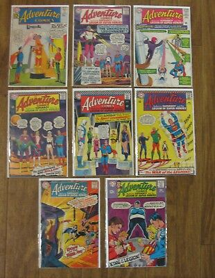 Adventure Comics Lot (Legion) (Silver Age) (8 Different Issues) (12 Cent Issues)
