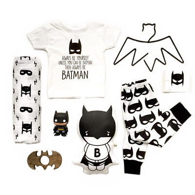 2PC Infant Toddler Baby Clothes Outfit Boys T-shirt Top + Long Pants Coming Home