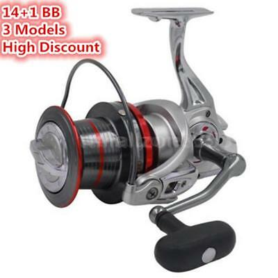 14+1 BB Casting Spinning Fishing Reel Surfcasting Left/Right Hand For Sea