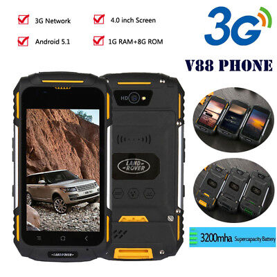 3G Rugged Android SmartPhone LAND ROVER V88 4'' Unlocked  Quad Core Mobile Phone