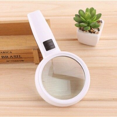 10X Handheld Magnifier Reading Magnifying Glass Jewelry Loupe With 3 LED Light