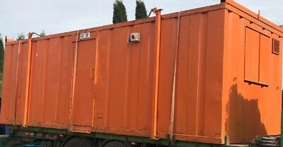 24 x 9 Site office / canteen unit / anti vandal / steel shipping container
