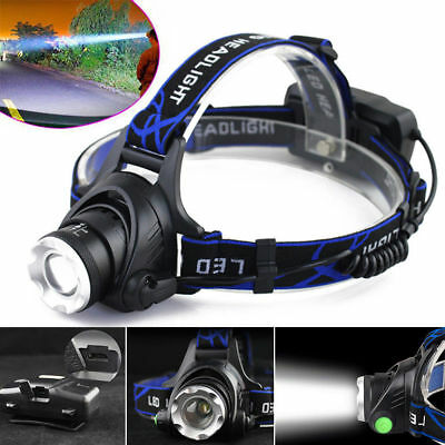 Tactical 30000LM Rechargeable T6 LED Headlamp 18650 Headlight Head Lamp Torch