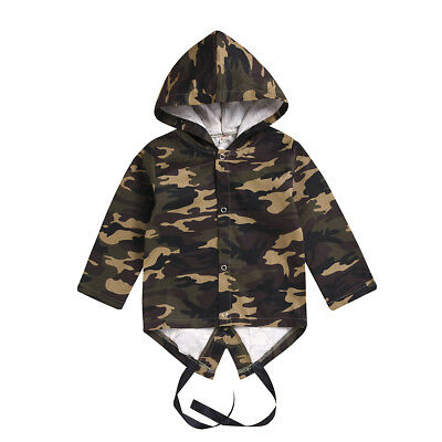 US Camo Baby Boys Girls Toddler Hoodies Jacket Outwear Tracksuit Hooded Coat