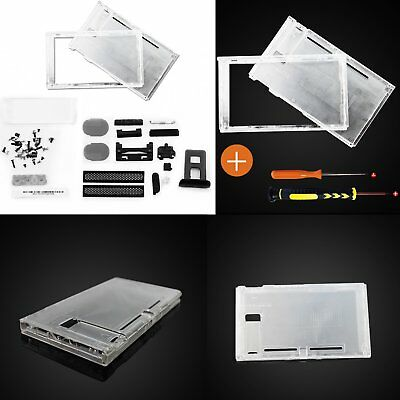 Replace Transparent Top & Bottom Housing Shell Case For Gaming Switch Console