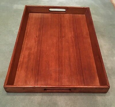 Vintage teak serving/drinks tray (ref 18.3.053)