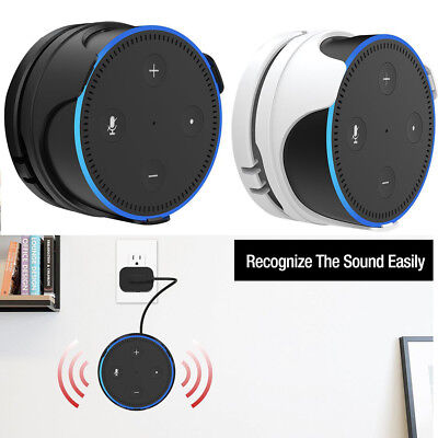 Wall Mount Holder Protective for Amazon Echo Dot 2nd Generation Clip Case Stand