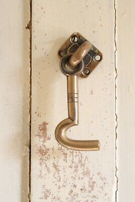 Antique Brass Cabin Hook Door Furniture 19th Century Chunky Industrial Factory
