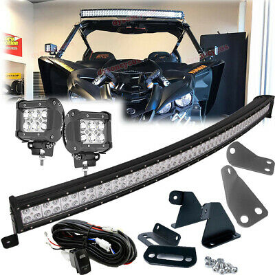 Fit 16-Up Yamaha YXZ 1000R Work LED Light Pod A-Pillar Upper Hood Pair Brackets