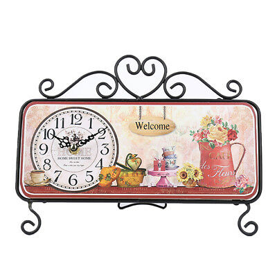 French Country Table Top Clock Home Decor Accent for Office,Study or Bedroom