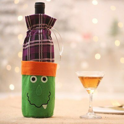 Christmas Gift Wrapper Halloween Cloth Wine Bags Bottle Cover Party Decor Supply