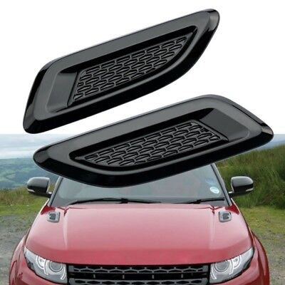 Gloss Black Dummy Hood Vent Slat air wing trim For range rover EVOQUE 2011-2016