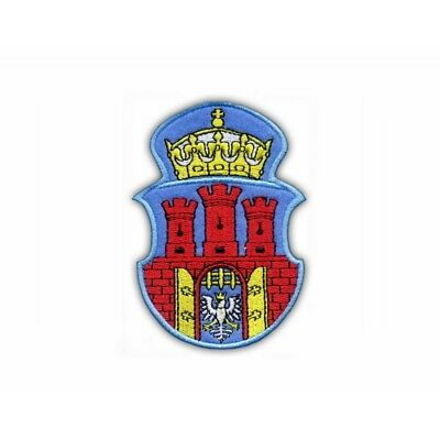 Coat of arms of the city of Rzeszow Embroidered PATCH//BADGE