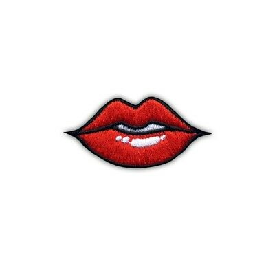 Lips Embroidered PATCH/BADGE