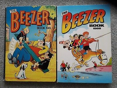 The Beezer Book 1981 & 1988 Annuals V.g.c