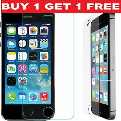 Genuine Tempered Glass Screen Protector Cover For Iphone 5 Se 5S