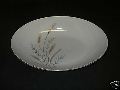 """Fine China of Japan GOLDEN WHEAT Bowl Oval Vegetable 10 3/8"""" Gold Gilt."""