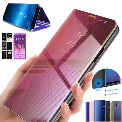 Luxury Mirror Clear View Case for Huawei Y6 Prime 2018/Nova 3i Flip Wallet Cover
