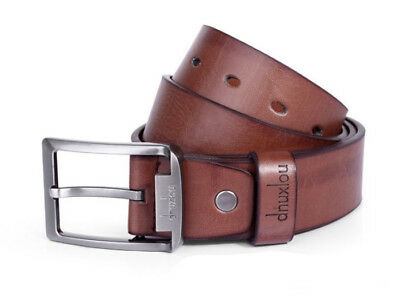 New Mens Leather Single Prong Belt Business Casual Dress Metal Buckle