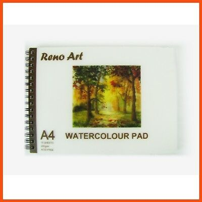 10 x RENO ART WATERCOLOUR PADS A4 280gsm 30pg | Artist Drawing Paper Sketchbook