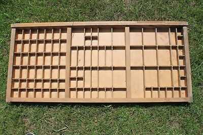 Vintage Print tray printers wooden type case drawer ideal miniatures display