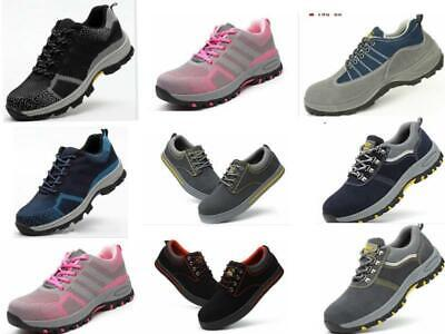 Mens Lightweight Steel Toe Cap Work Safety Shoes Womens Hiking Trainers  Boots f28f72e328