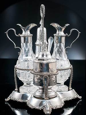 Silver Cruet Set 1856 William Gale & Son