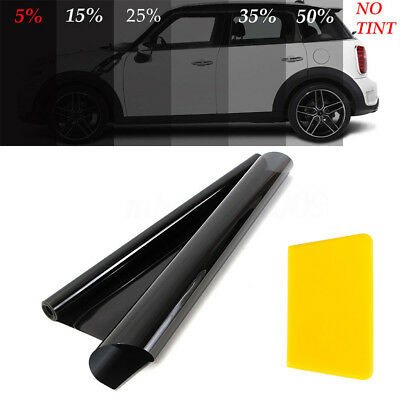 50cm x6M Black Glass Window Tint Shade Film VLT 5% 15% 25% 35% Auto Car Roll CHL
