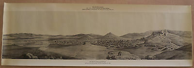 Acropolis City Of Athens 1835 Official Gravure