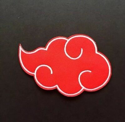 Akatsuki Clan Cloud Naruto Anime Cosplay Embroidered Patches Iron On Appliqué