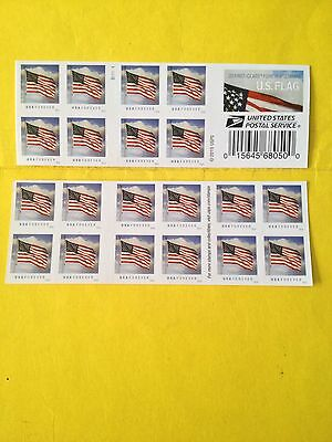 "USPS 20 FOREVER STAMP 1st CLASS MAIL  ""US Flag"" Booklet, New 1/29/2016."