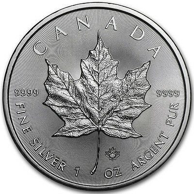Canada 5 Dollars 2017 Maple Leaf 1 Once D'Argent (S / / C)