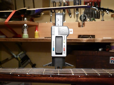 String action/fret height/nut slot. gauge, 0.01mm res. 3 IN ONE! MUST HAVE TOOL.