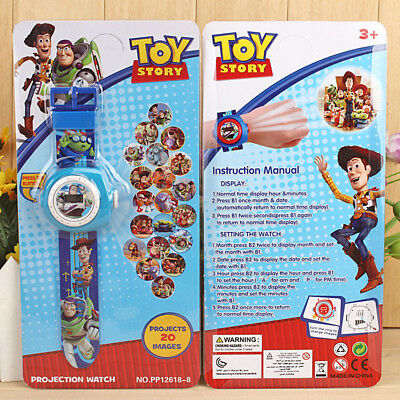 Hot Disney Movie Toy Story Figures Projection Wrist Watch Kids Boy Girl Toy Gift