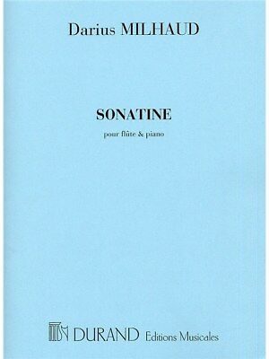 Darius Milhaud Sonatine Flute and Piano Learn Play Flute Piano SHEET MUSIC BOOK
