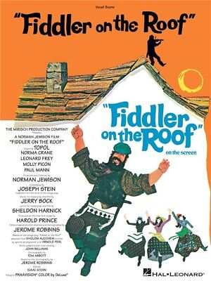 Jerry Bock and Sheldon Harnick Fiddler On The Roof Vocal Score VOICE MUSIC BOOK