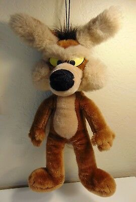 "Vintage 1987 Mighty Star Wile E Coyote 16"" Plush Stuffed Animal Toy"