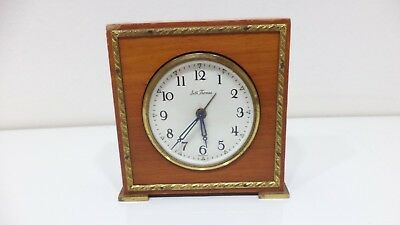 Vintage SETH THOMAS Wood Desk Alarm Travel Clock Made In Germany Not Working