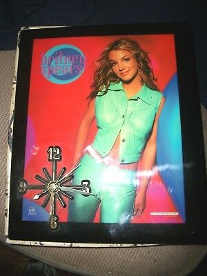 Britney Spears collectible Wall Clock In Box Funcky