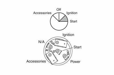 Narva Ignition Switch 4 Position 64026