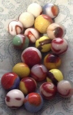 21 Vintage Marbles Estate Find Bloods Yellows and Eye?