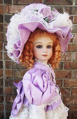 ANTIQUE REPRODUCTION DOLL RARE H MOLD NEW 27in PATRICIA LOVELESS MOAHIR WIG