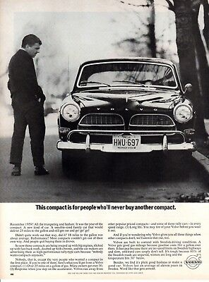 Vintage automobile Print car ad Volvo for people who would never buy 1964 ad