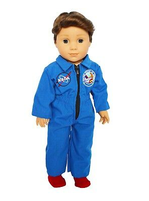 NASA Astronaut Outfit Fits 18 Inch American Girl Doll Clothes Luciana Or Logan