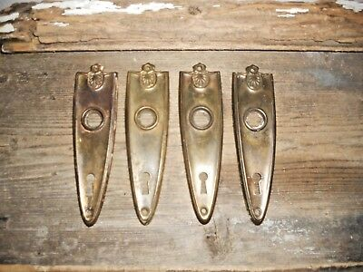 Vtg 4 Art Deco Fancy Shield Antique Door Knob Back Plates Arts/crafts Pinterest