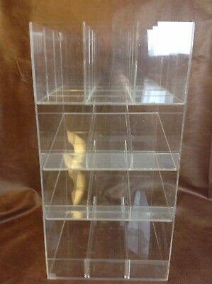 Retail Counter Clear Acrylic Lucite 4 Tier Store Accessories Display