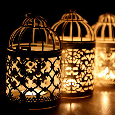 New Candle Holders Hollow Metal Candlestick Wedding Candelabra Moroccan Lanterns